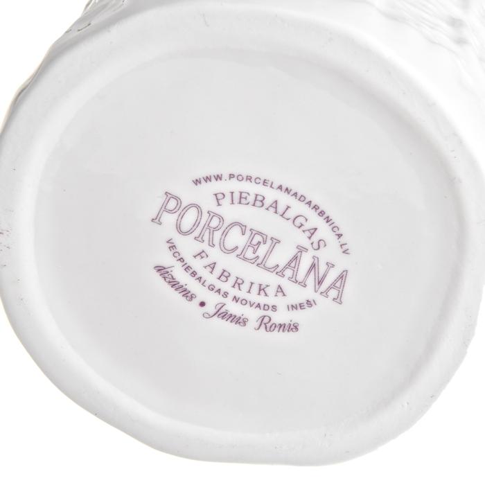 PORCELANIA, мятый фарфор,  нанесение фирменных логотипов и подписи