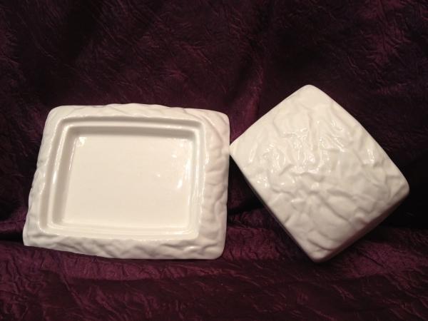 """Porcelania, рижский фарфор, """"мятый"""" фарфор, блюдо"""