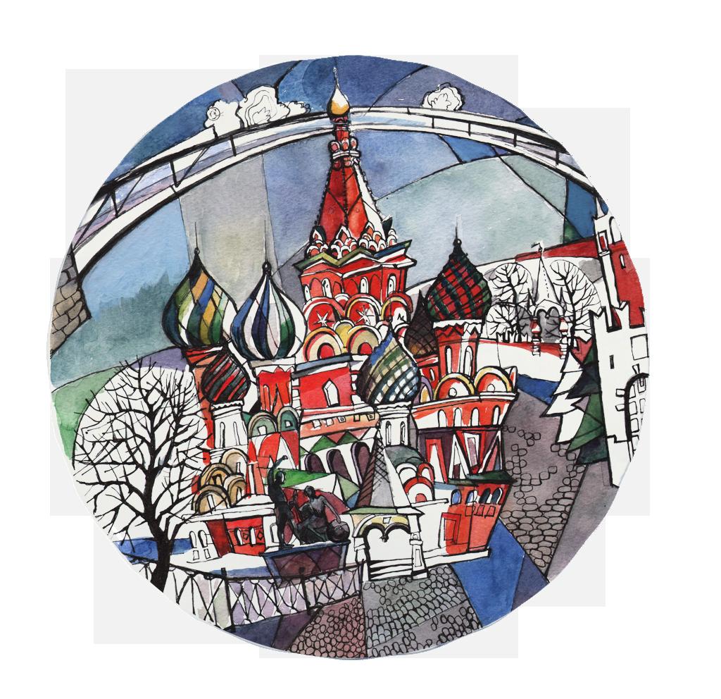 Коллекция декоративных тарелок ручной работы Московия Dream от MATEO